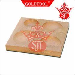 Gold Tool 4 Cavity Wooden Block Plate