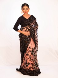 Angosree Georgette Net Heavy Work Saree