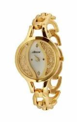 Trendy Ladies Watch Gold Belt
