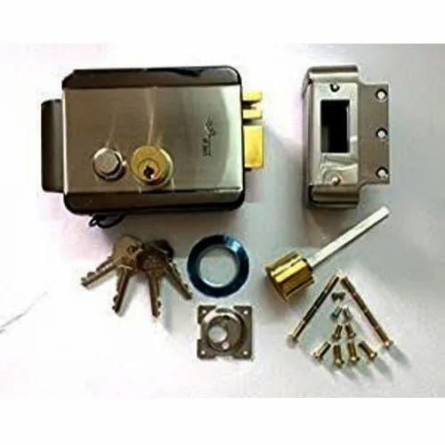 Brass Alba Urmet Electronic Door Lock