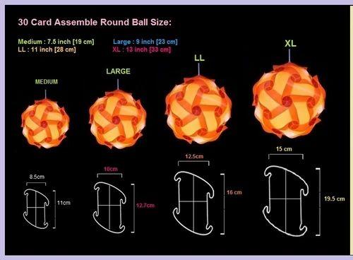 Self Assemble Lamp Shade Element Kit Iq Lamp Fire Ball Iq Puzzle Jig Saw Lampshade Element