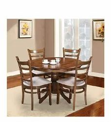 4 Seater Classy Wooden Dining Table For Home