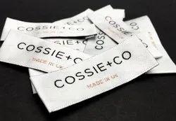 Rectangular Satin Garment Label