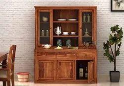 Plywood Brown Wooden Kitchen Cupboard