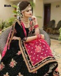Heavy Embroidery Work Lehenga Choli for Bride