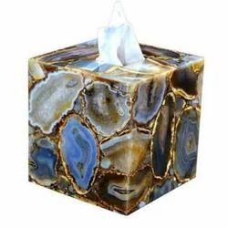 Multicolor Agate Tissue Box