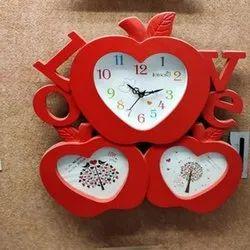 Heart Shaped Designer Wall Clock