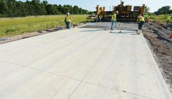 Center Line Concrete Road