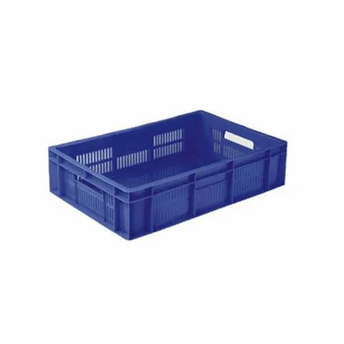 Blue Rectangular 64150 SP Plastic Crate for Storage, Capacity: 30 L