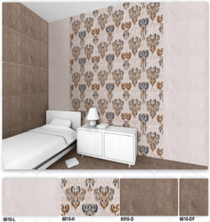 6010 (L,  H, D, DF) Hexa Ceramic Digital Wall Tiles