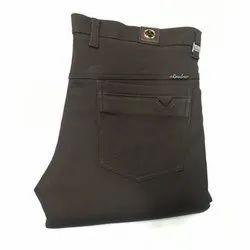 Casual Wear Mens Formal Black Cotton Trouser, 28-36 Inch