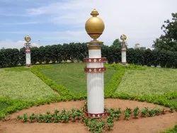 Paint Coated Garden Decorative Pillar, Size: 8-12 Feet