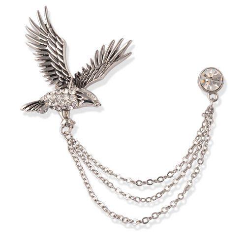 1313ed8b602c Silver Metal Chain Lapel Pin, Silver Leaf Enterprises | ID: 12532425712