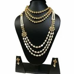 Party Wear Imitation Ladies Layered Kundan Necklace Sets