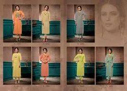 Printed Formal Wear Elite Kalki Fashion Linen Pure Cotton Handwork Kurti
