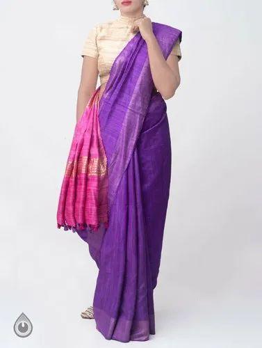 Exclusive Pure Handloom Pure Tussar Silk Sarees Pure Handwoven work Silk Saris