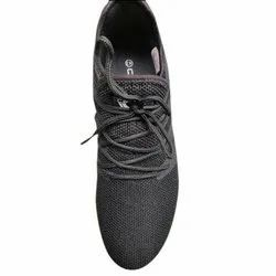 Calcetto Mens Black Sports Shoes, Size
