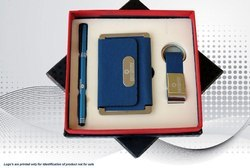 Blue Colour 3 in 1 Corporate Gift Set