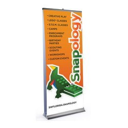 Deluxe Wide Base Double-Screen Roll-Up Banner Stands