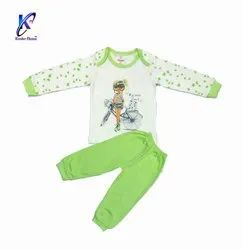 Cartoon Printed Baby Girl Top With Pant