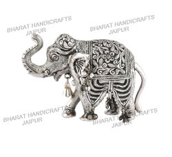 White Metal Antique Elephant