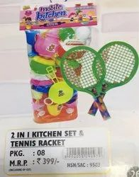 2 In 1 Kitchen Set & Tennis Racket
