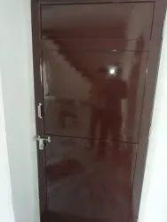 Gp Brown Metal Sheets Doors, Single, Thickness: 1mm