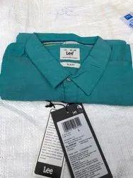 Plain Formal Wear Lee Men Cotton Shirts, Machine wash