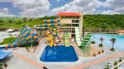 Green FRP Water Park Rides for Amusement Park