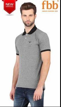 ddaa4f2dd Buffalo Grey Solid Mens Polo T-Shirt