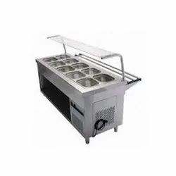 Bain Marie Counter With 10 Containers