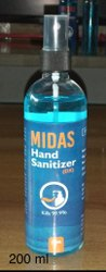 Midas Instant Hand Wash Sanitizer Spray 200 Ml