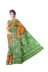 Kundan And Aabhla Work Design Gaji Silk Bandhani Saree