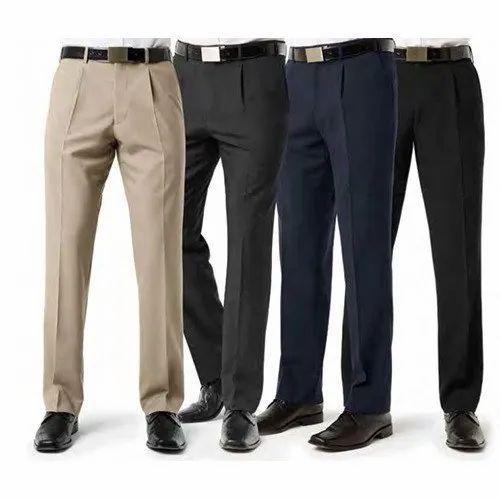 74004356f Men Plain Formal Trouser