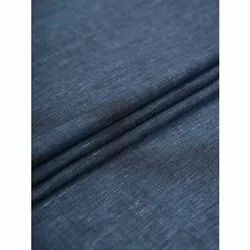 Blue Linen Chambray Fabric, GSM: 50-100