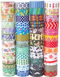 Double Sided Multicolor Decorative Tapes for Packaging, Size: 1 inch