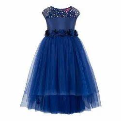 Blue Kids Hi-Low Dresses for Summer Collection