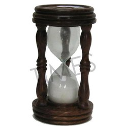 Brown Nautical Wooden Sand Timer