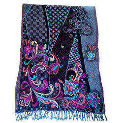 Woolen Embroidery Ladies Stole