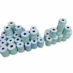 3 Inch white plain Paper Billing Roll, GSM: 55 GSM