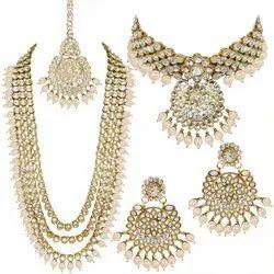 Wedding Wear Bridal Kundan Necklace Set