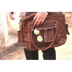 Real Vision Made Brown Leather Office Bag