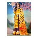 Georgette Printed Saree with Blouse Piece