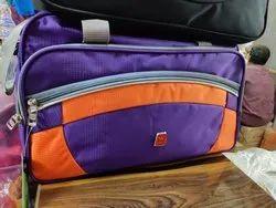 Purple and Orange Travel Bag