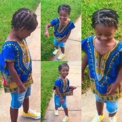 African Printed Dress for Kids