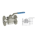 Ak Carbon Steel 3 Piece Flanged End Ball Valve, 4, Size: 15 - 300 Mm