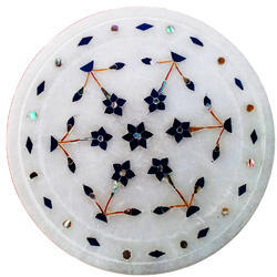 Good Quality Outdoor Round Marble Stone Inlay Table Tops