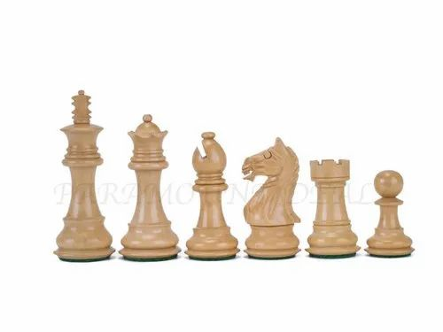 "4.5"" Indian Rosewood and Boxwood Fierce Knight Luxury Chess Set"