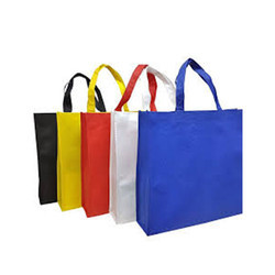Plain Laminated Non Woven Bag With Side Gusset