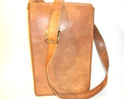 Long Flap Vertical Leather Bag